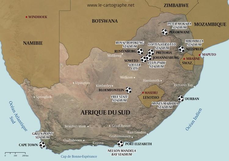 Afrique du sud les stades de la coupe du monde de - Coupe du monde football afrique du sud ...