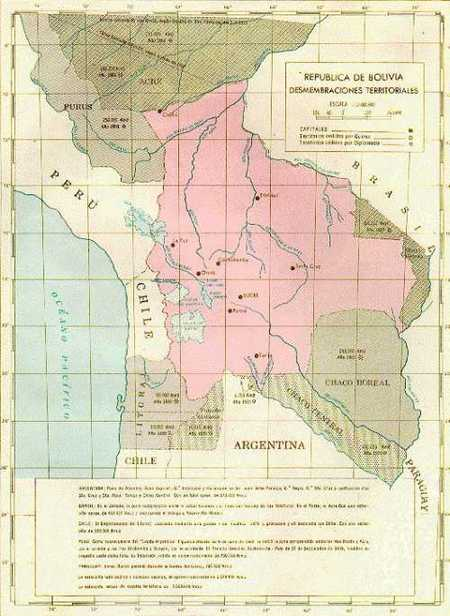 Carte : la Bolivie en 1825