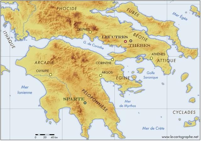 Grèce   La bataille de Leuctres (371 av. J.C.)