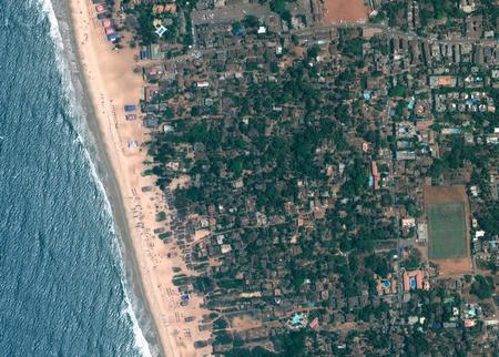 Image Satellite - Goa, Calangute Beach