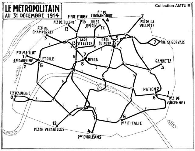 La repr sentation cartographique du m tro - Plan du peripherique parisien les portes ...