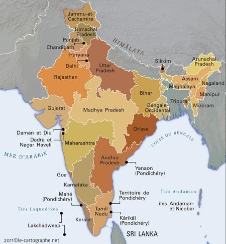 Carte De L Inde.Inde Fiche D Identite