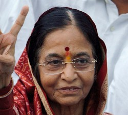 Photo : La Présidente indienne Pratibha Patil
