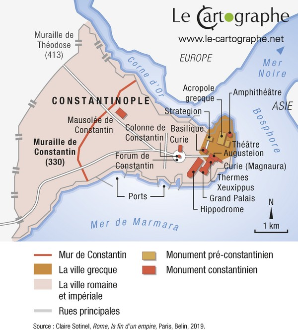 Carte : Plan de Constantinople