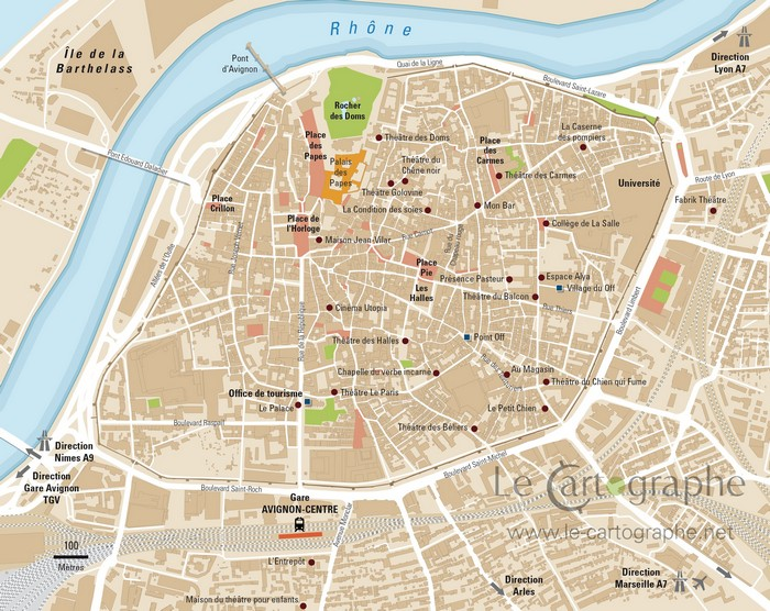 Carte Avignon Au Centre Ville
