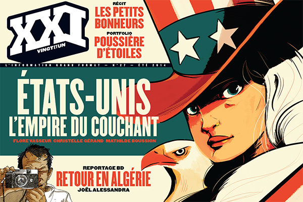 Illustration : couverture du n° 27 de la revue XXI