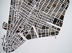 "Les ""City Map Cuts"" de Karen O'Leary"